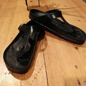 Black Birkenstocks size 10